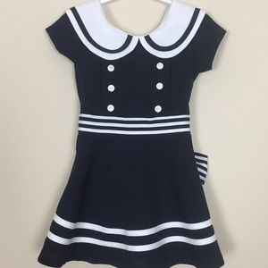Girls Bonnie Jean Sz2T Sailor Dress